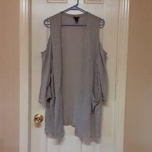 Torrid Grey Open Front Sweater